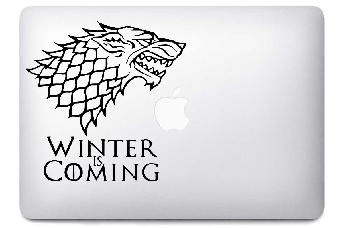 Stickers MacBook - Game of Thrones Winter Is Coming