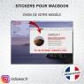 Stickers La Vie Est Belle pour MacBook