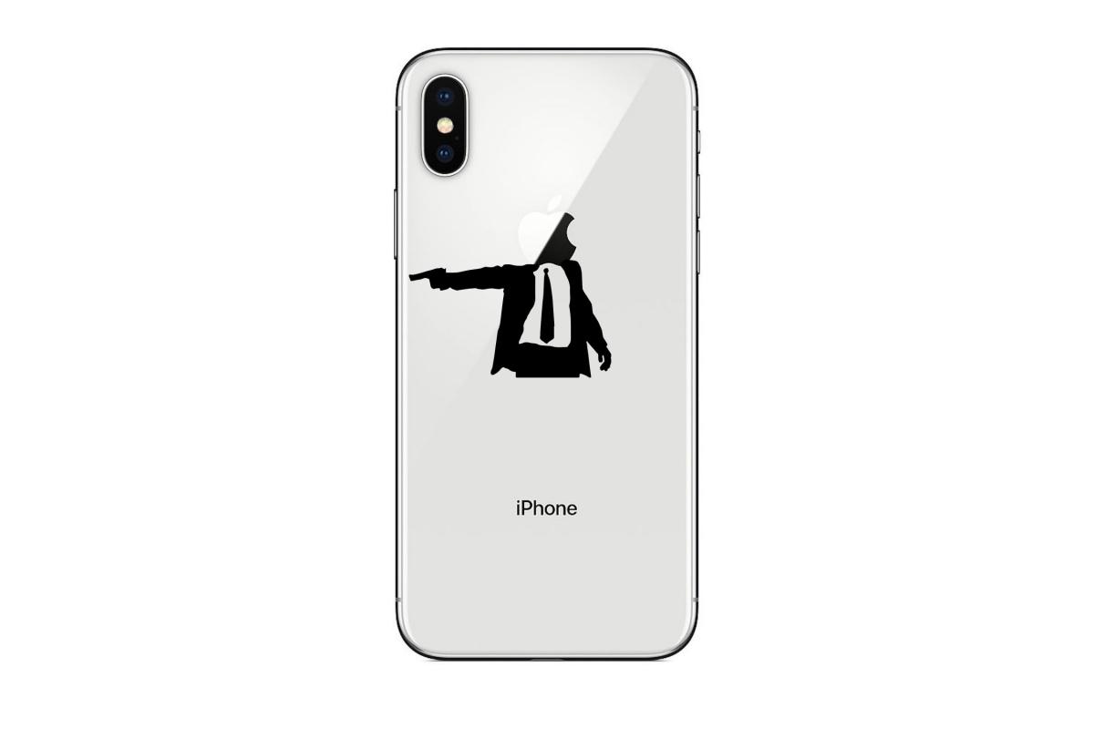 Autocollant Business Gun pour iPhone