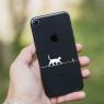 Autocollant Chat Funambule pour iPhone