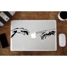 Mains de Dieu et d'Adam Stickers pour MacBook Pro Air