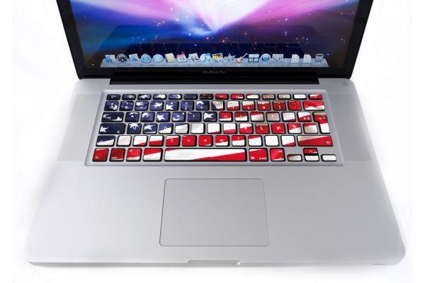 Stickers Drapeau Américain pour clavier MacBook