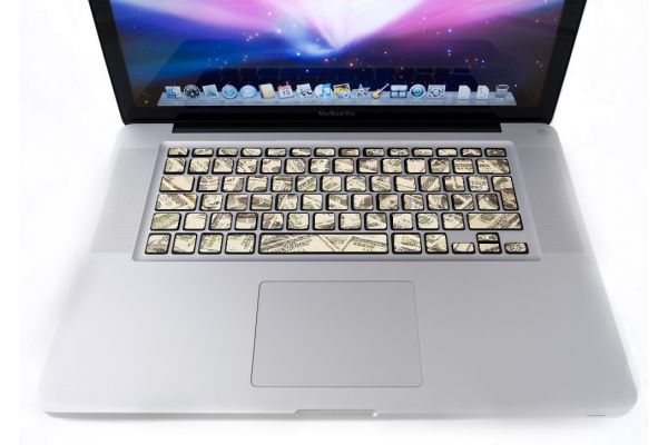 Stickers Dollars pour clavier MacBook