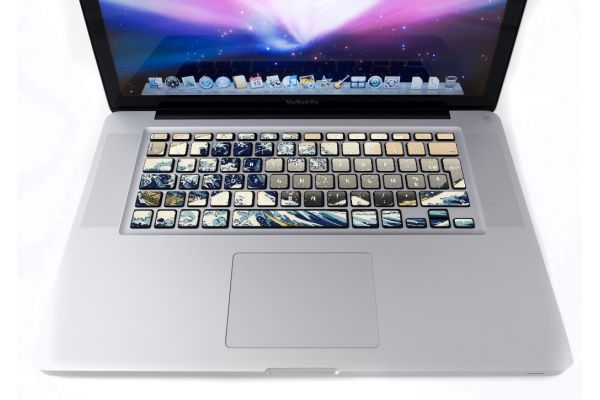 Stickers Vague Kanagawa pour clavier MacBook