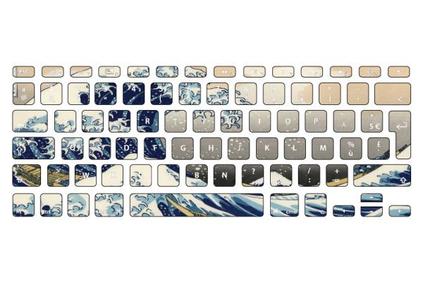 stickers vague kanagawa pour clavier macbook. Black Bedroom Furniture Sets. Home Design Ideas