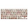 Stickers Tête De Mort Rose pour clavier MacBook