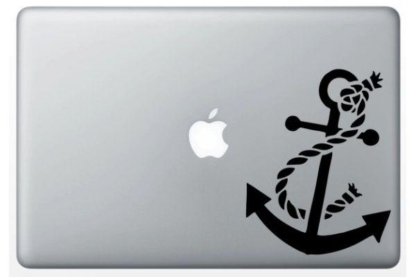 """Stickers """"Ancre bateau"""" pour MacBook"""