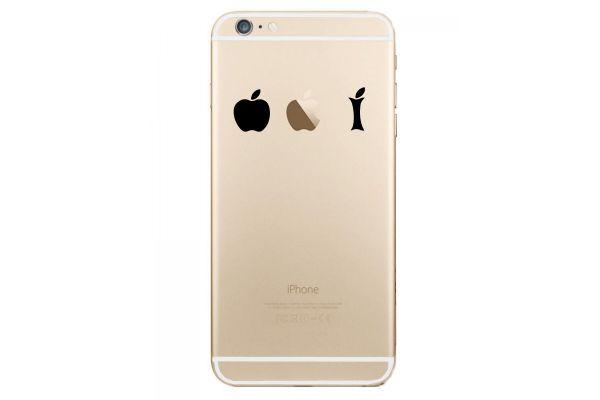 Autocollant Pomme Croquée pour iPhone