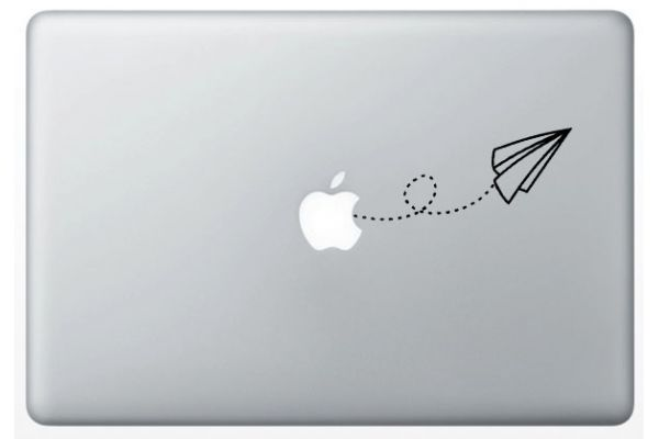 Stickers Origami Avion pour MacBook