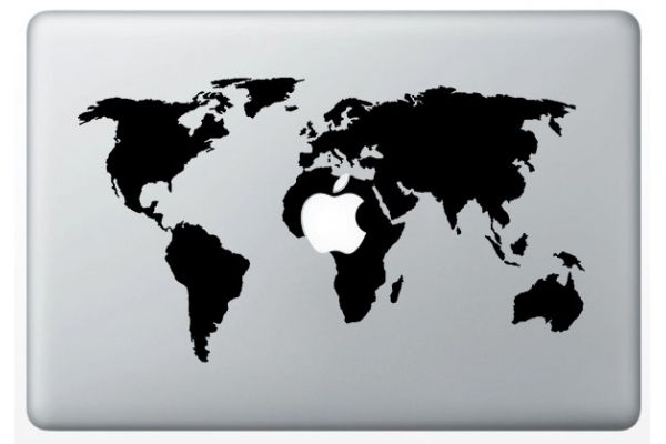 Autocollant World Map pour Mac