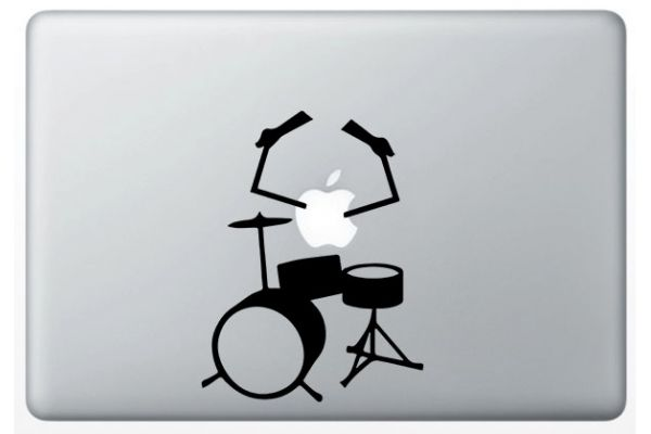 Stickers pour mac batterie