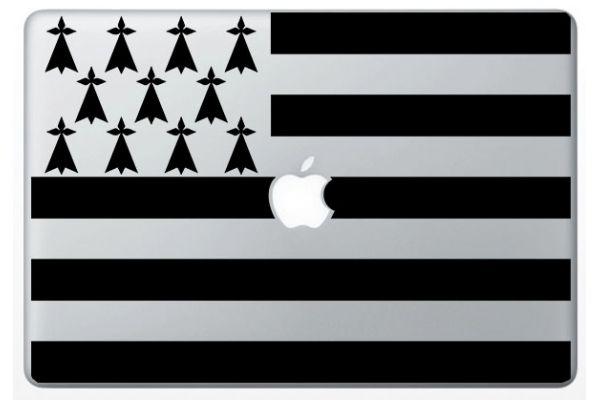 Sticker Drapeau Breizh pour Mac