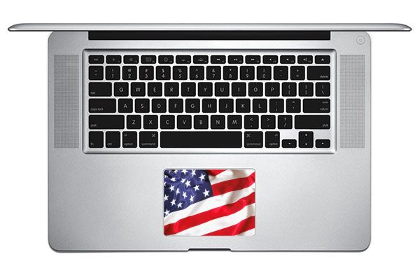 Sticker USA pour TrackPad Mac