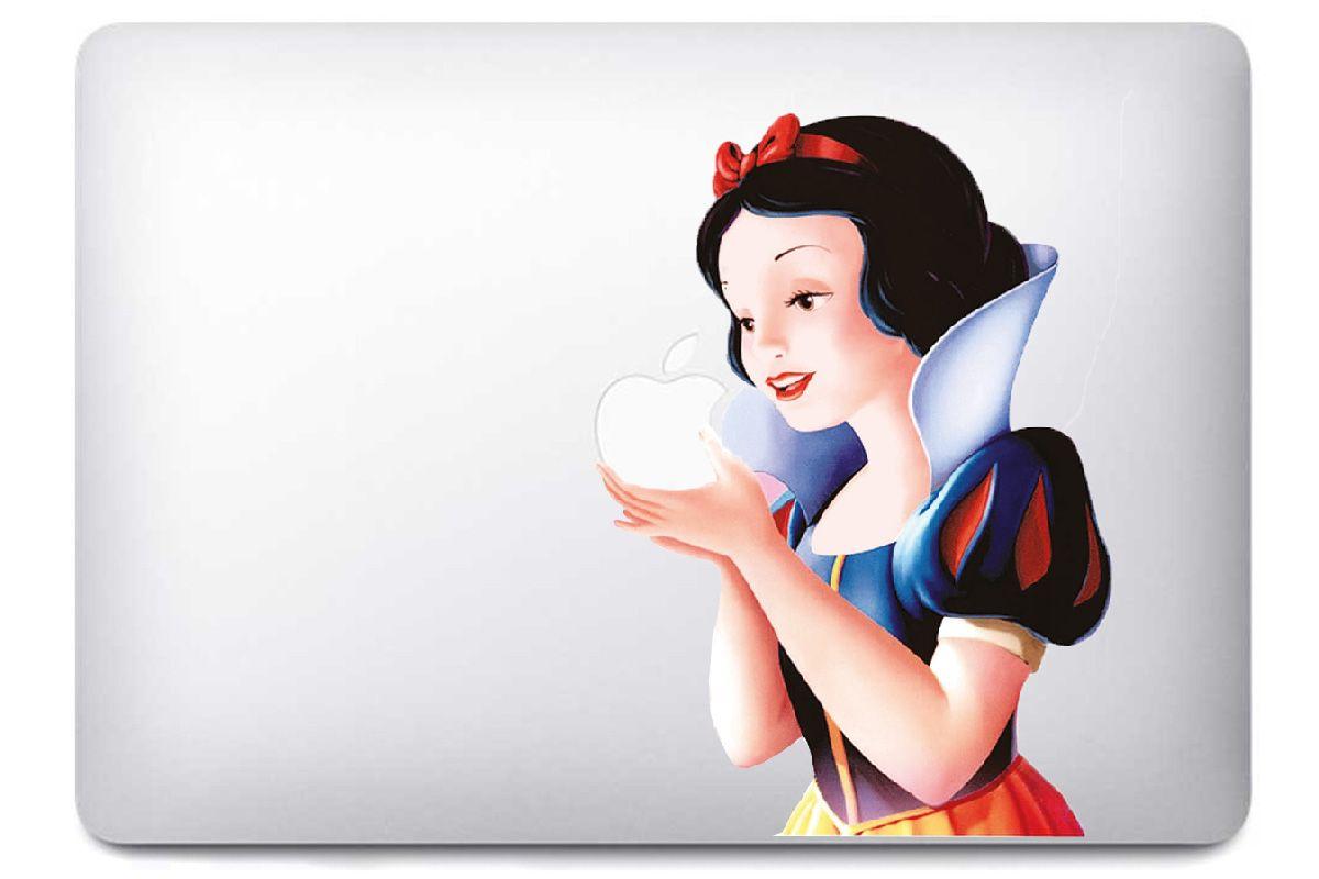 """Autocollant """"Blanche neige"""" pour Mac Book"""