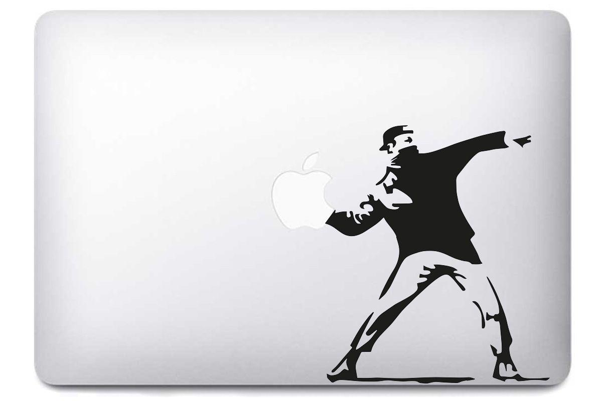 """Sticker """"Lanceur de pomme"""" pour Macbook"""