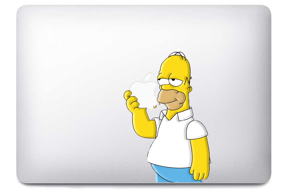 "Sticker ""Les Simpson - Homer"" pour MacBook"