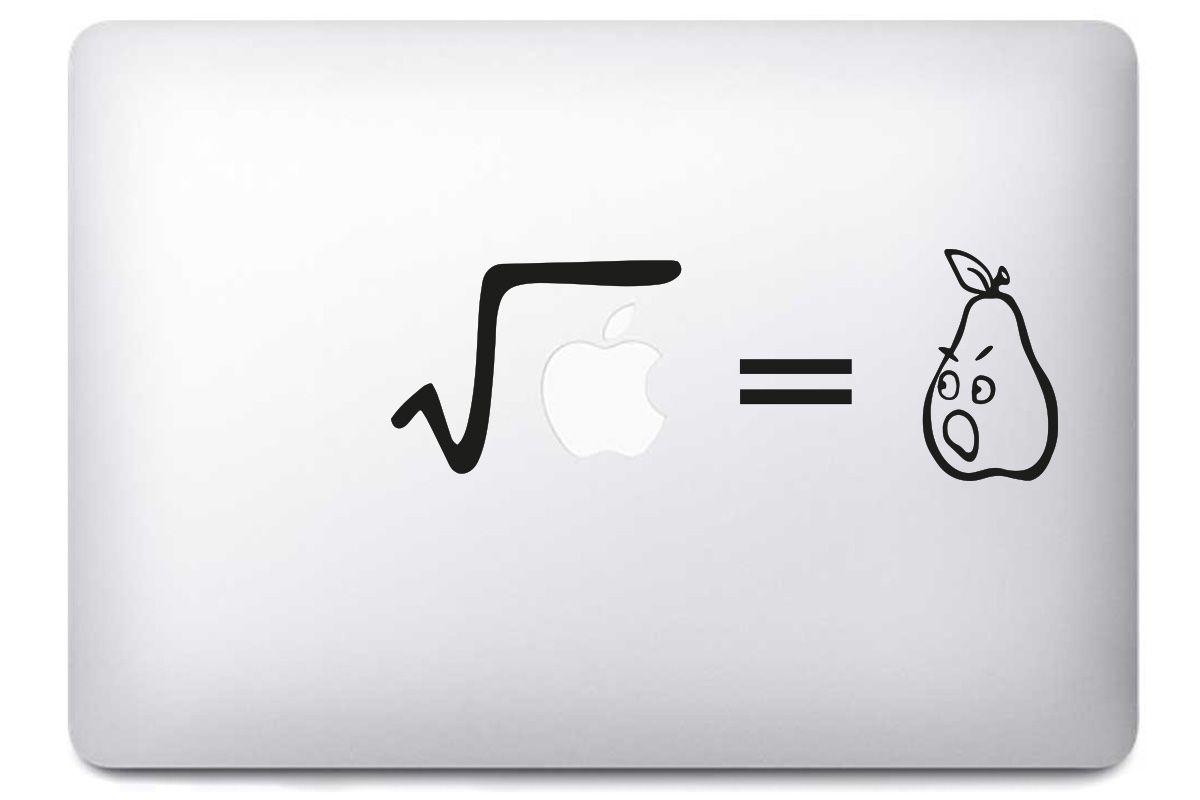 """Sticker """"Racine carrée d'une pomme"""" pour MacBook"""