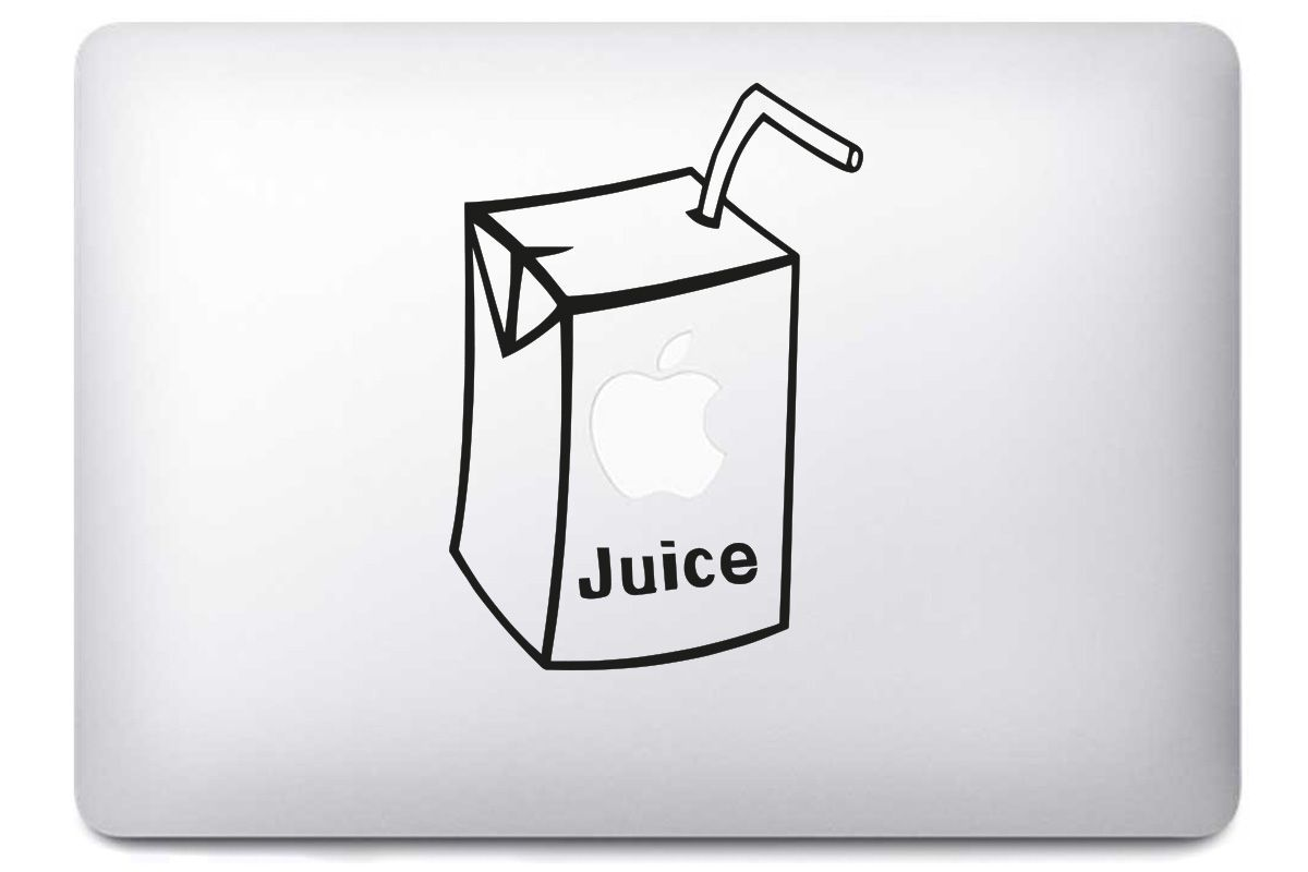 "Sticker ""Apple Juice"" pour MacBook et iPad"
