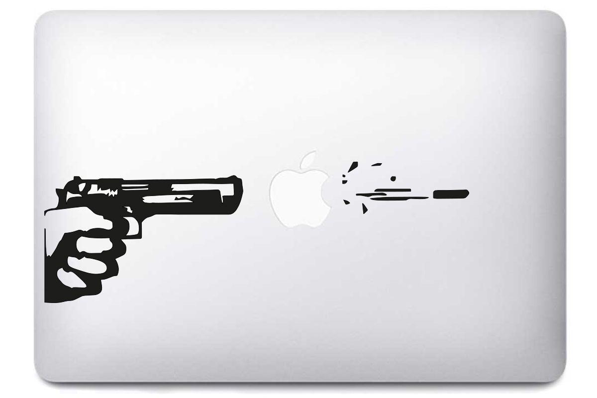 "Sticker ""Pistolet"" pour MacBook"