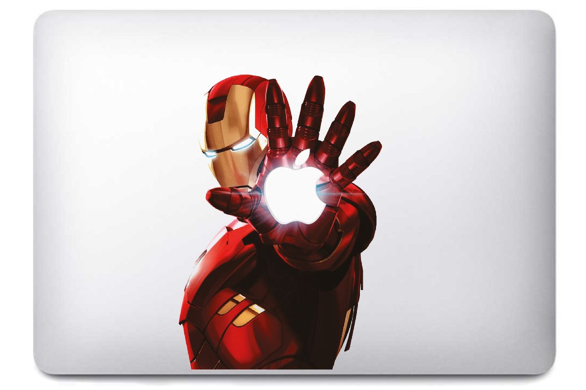 Sticker Ironman pour MacBook Pro et Air