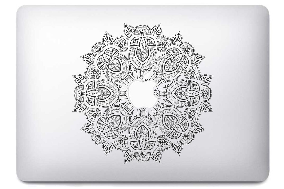 Stickers Mandala pour MacBook