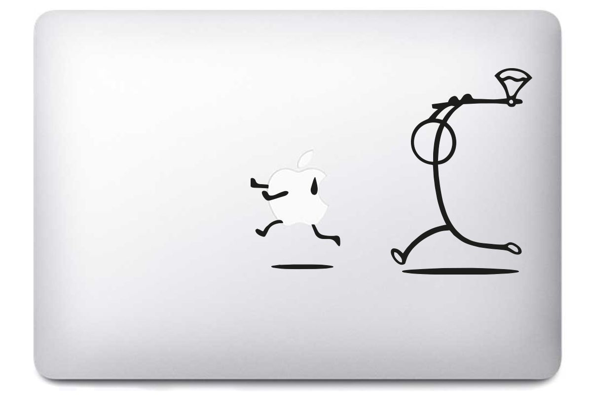 "Sticker ""Poursuite Hache"" pour MacBook"