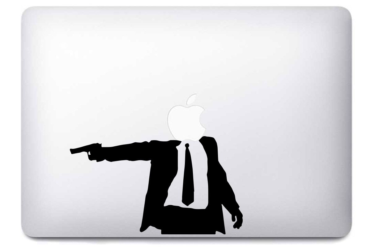 "Autocollant ""Business Man Gun"" pour Macbook"