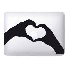 "Stickers ""Main coeur"" pour MacBook"