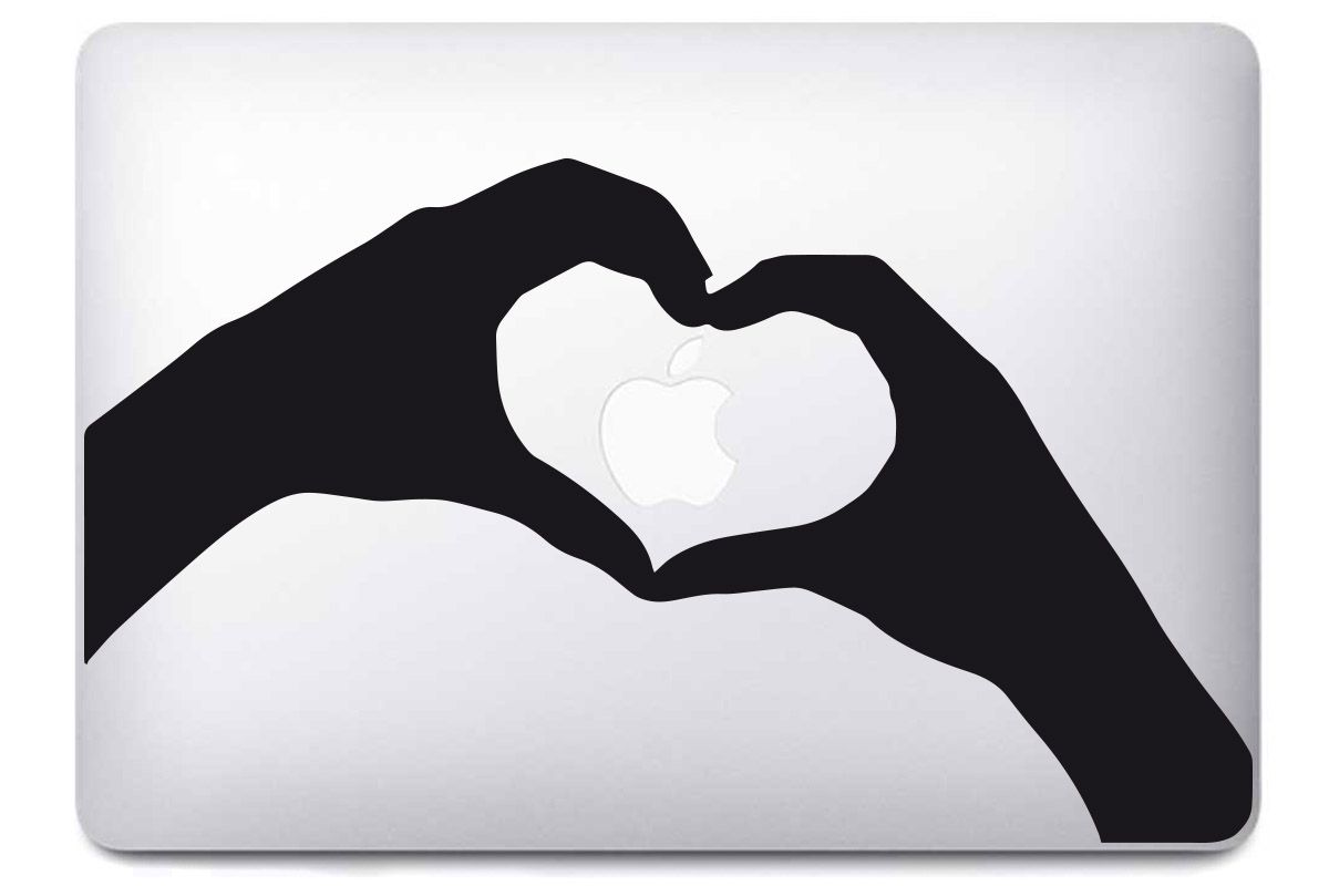 Stickers Main coeur pour MacBook