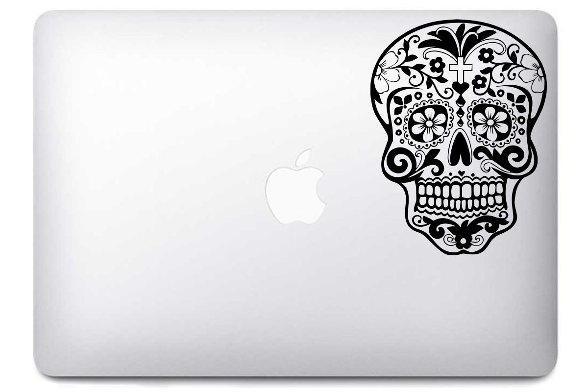 Stickers MacBook Sugar Skull