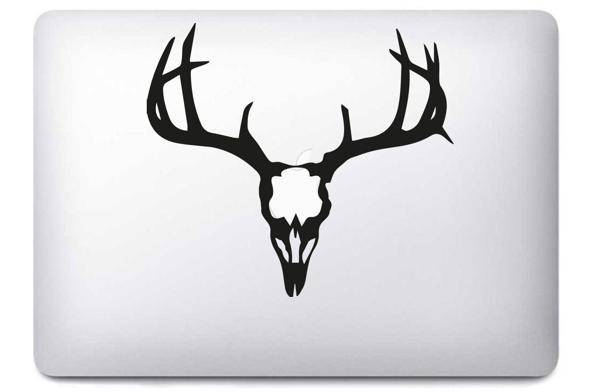 """Autocollant """"Deer Skull"""" pour Macbook"""