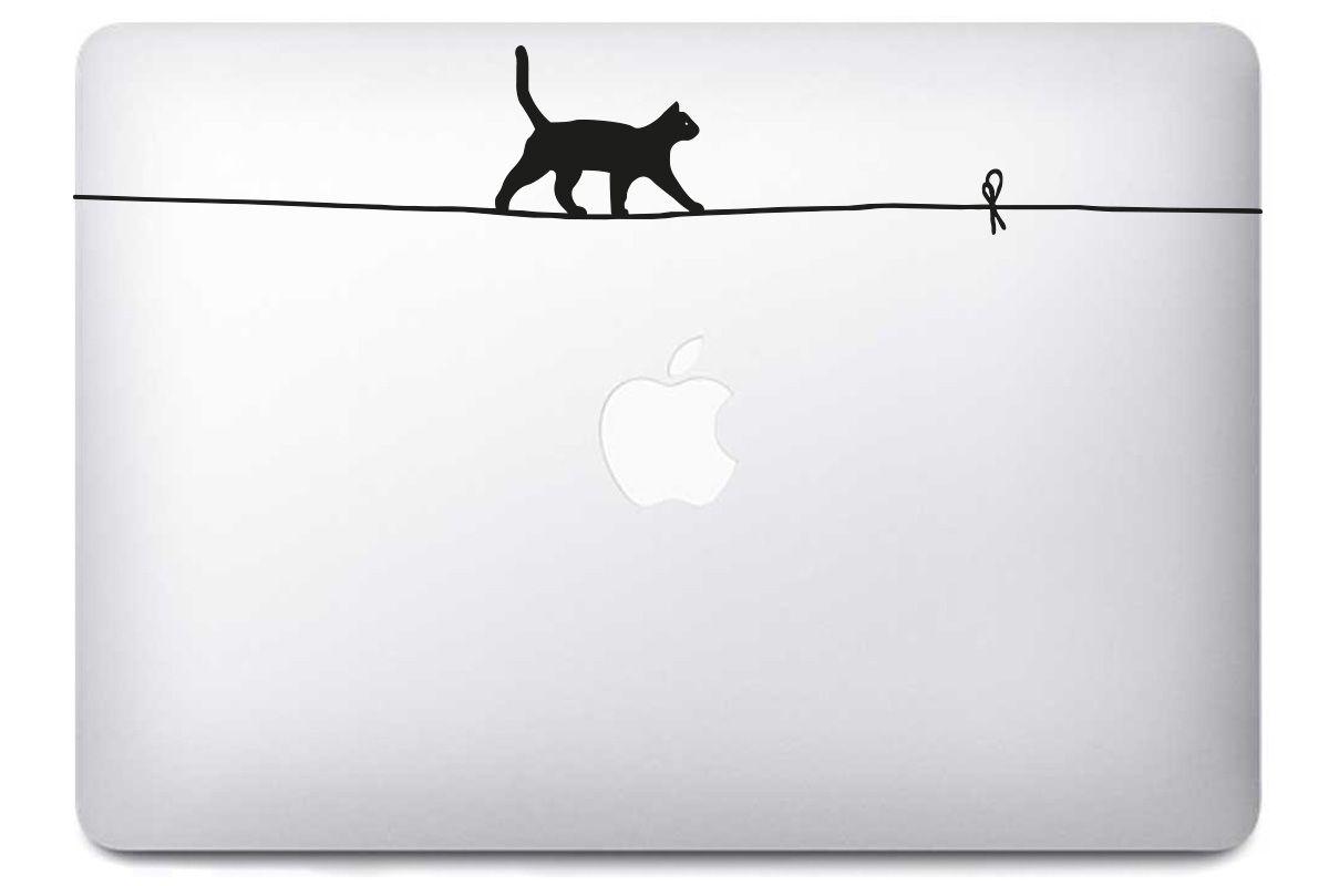Sticker Chat Funambule pour Mac Book