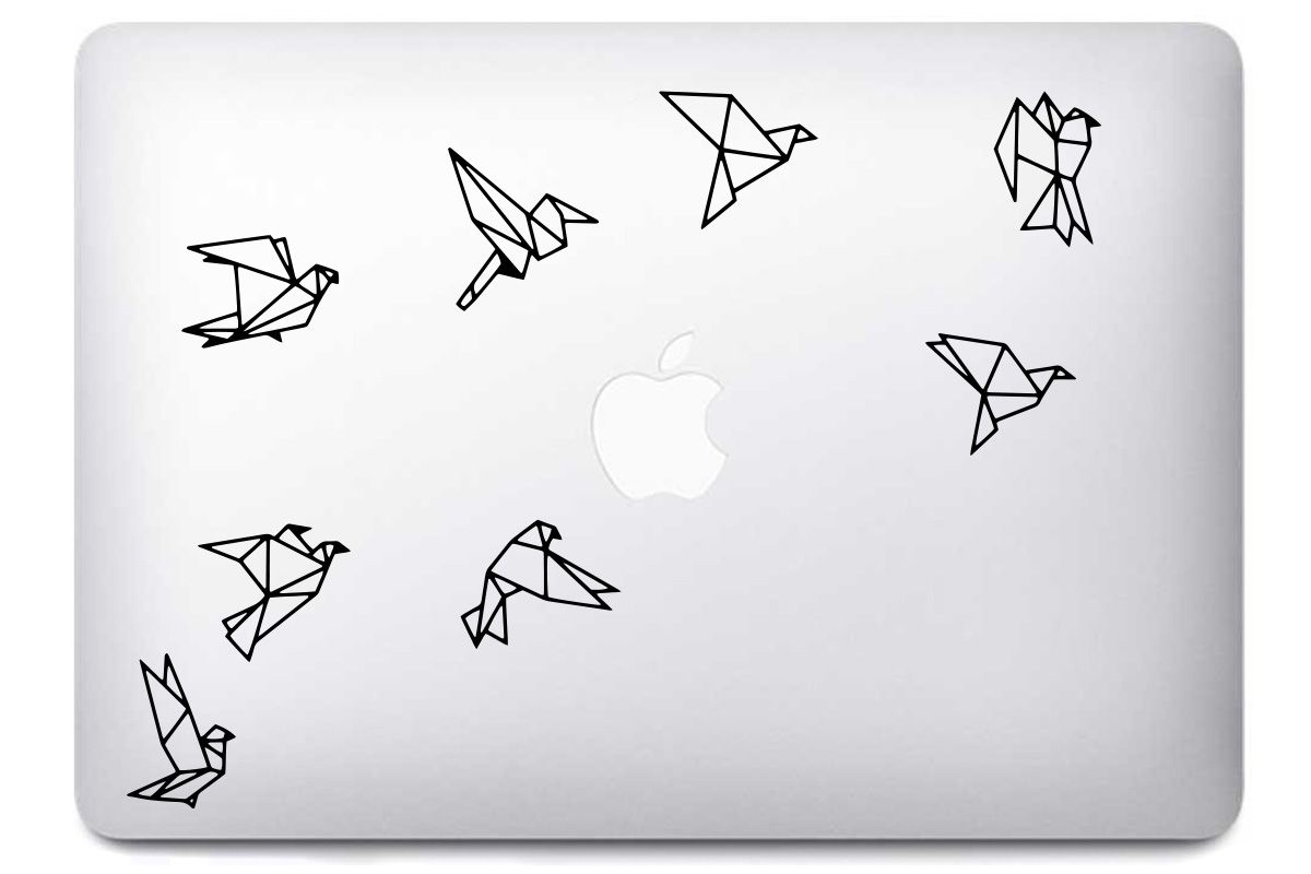 Stickers Bird Origami pour Mac