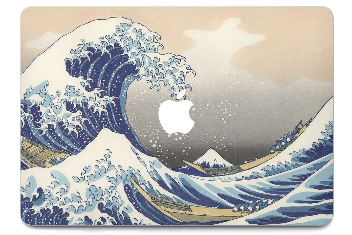 Skin Vague Hokusai pour MacBook