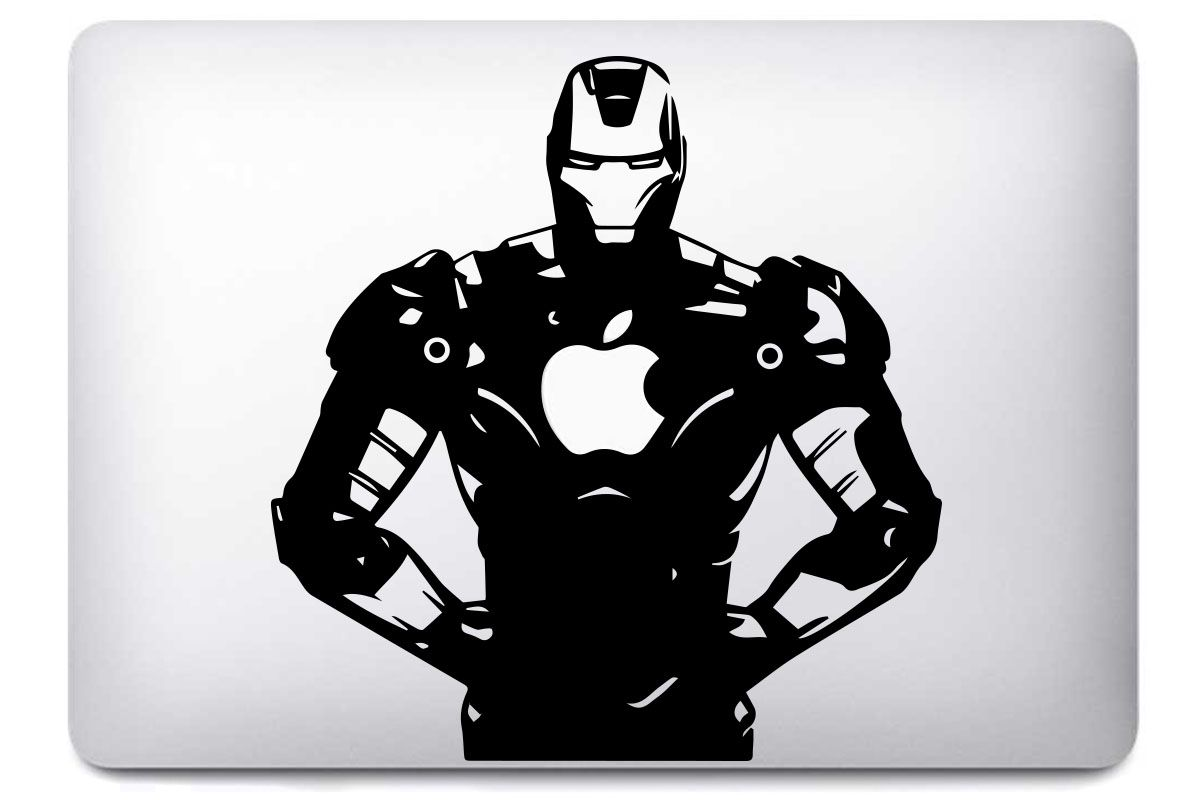 Sticker ironman pour macbook