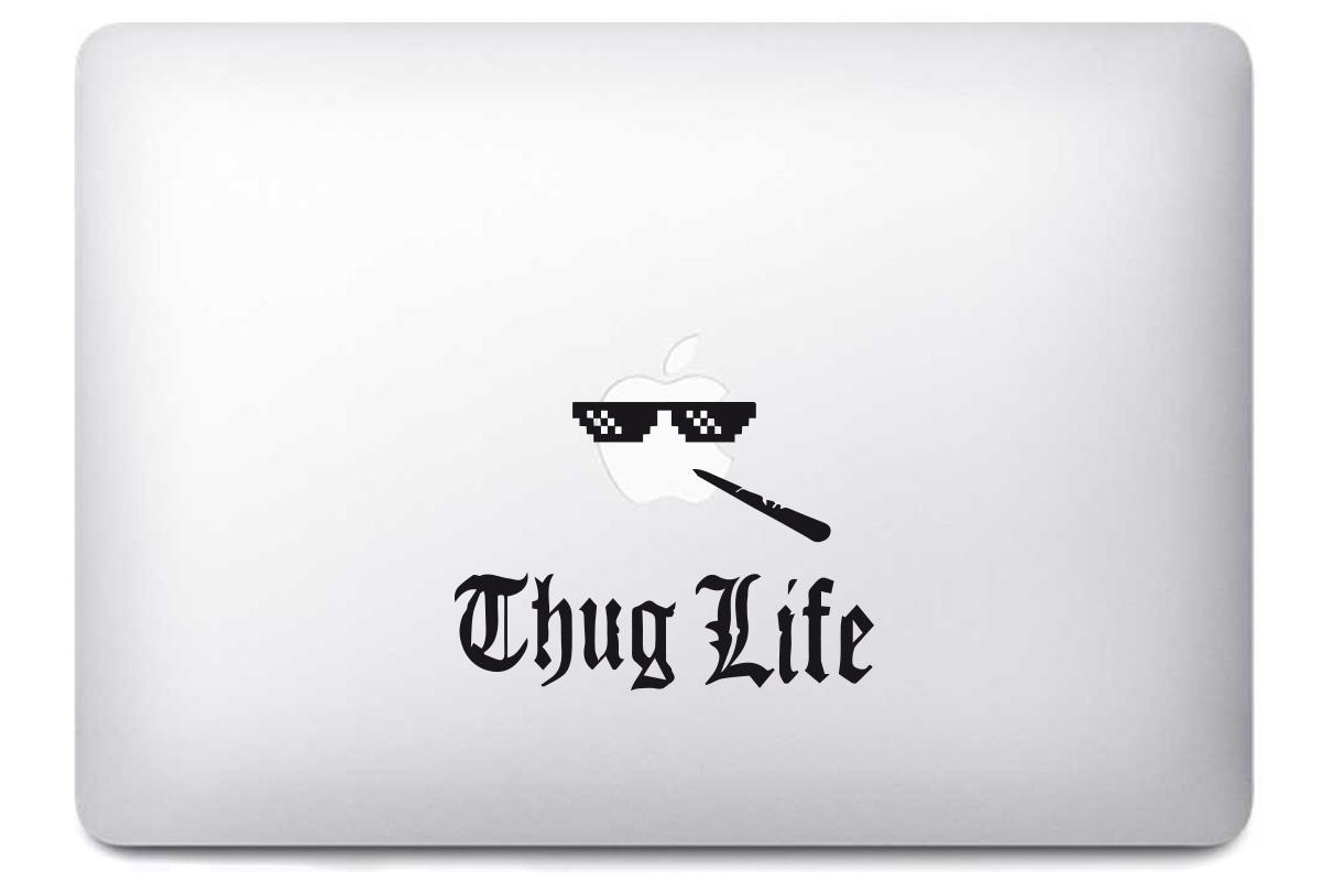 Sticker thug life pour macbook