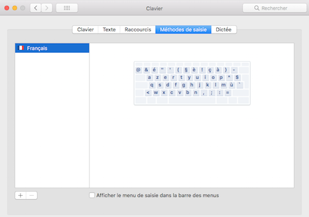 Transformer un clavier MacBook QWERTY en AZERTY