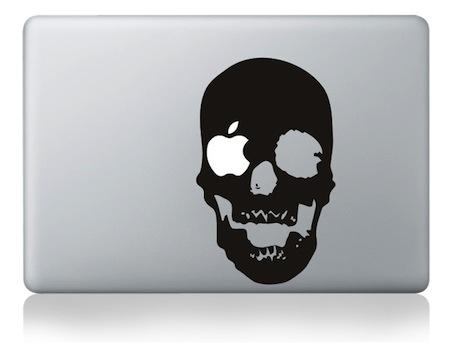 Sticker tête de Mort pour MacBook