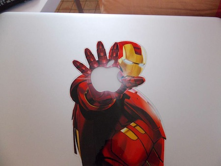 Sticker IronMan MacBook