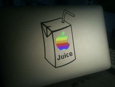 Sticker MacBook Apple Juice