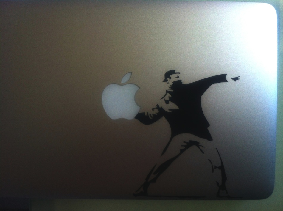Sticker MacBook Banksy