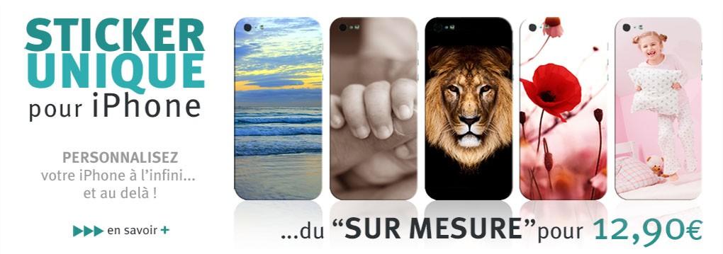 Sticker personnalisé pour iPhone